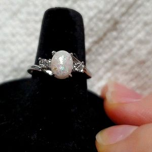 NWOT Silver and Opal Ring